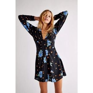 FREE PEOPLE Date Night Mini Dress In Moonlight Combo Size Small NWOT